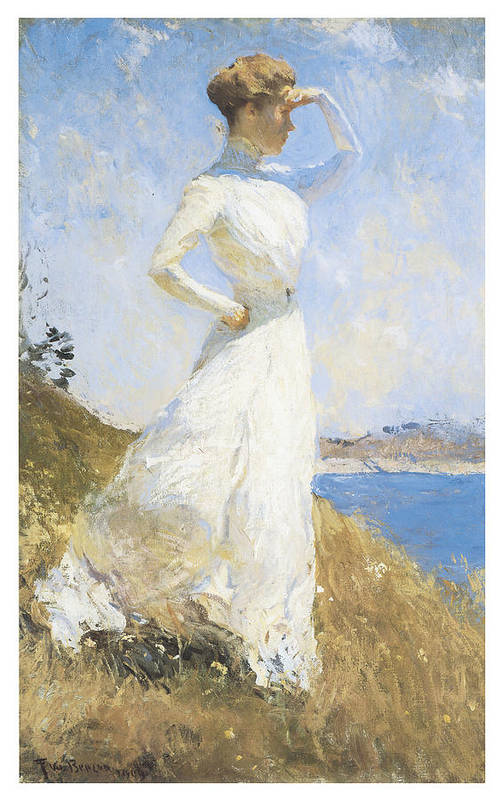 Frank Benson Print featuring the painting Sunlight by Frank Benson