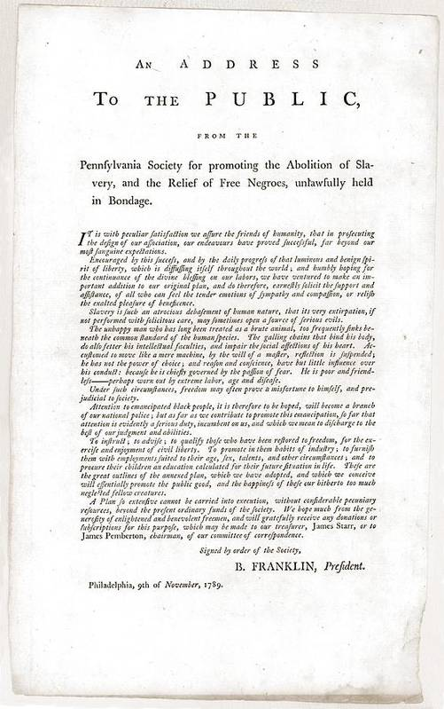 History Print featuring the photograph Abolitionist Address By Benjamin by Everett