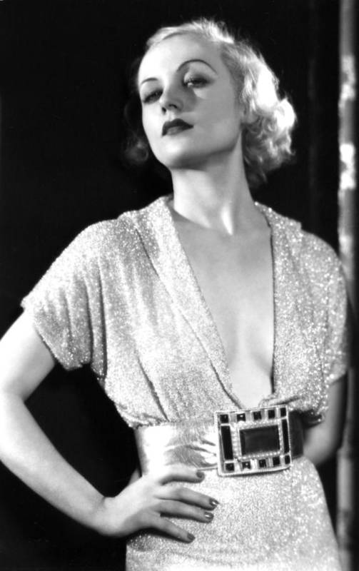 1930s Portraits Print featuring the photograph No Man Of Her Own, Carole Lombard, 1932 by Everett