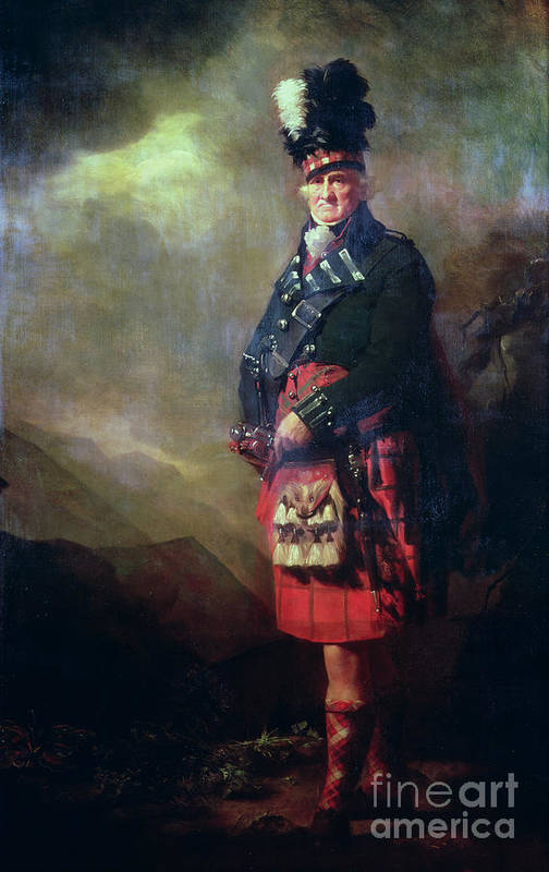 Kilt Print featuring the painting The Macnab by Sir Henry Raeburn