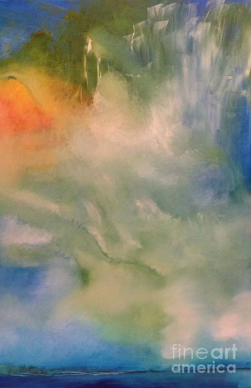 Angel Print featuring the painting Angel by Jane Ubell-Meyer