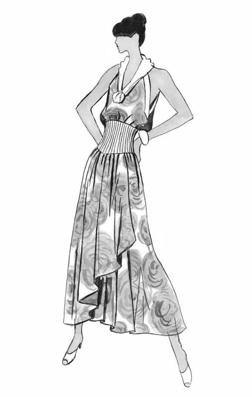 Fashion Illustration Print featuring the drawing It's Sarong It's Right by Sarah Parks