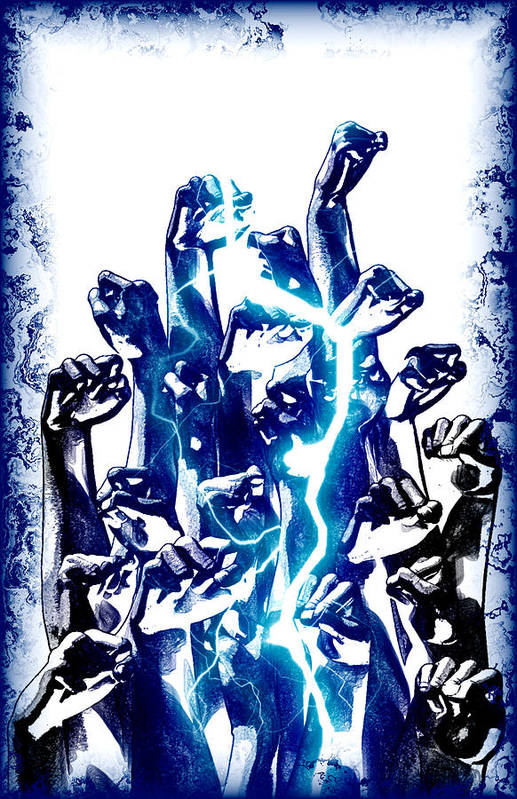 Print featuring the digital art Protest The Power by Frederico Borges