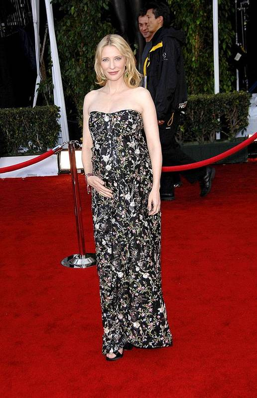 Arrivals - 44th Annual Screen Actors Guild Awards (sag) Print featuring the photograph Cate Blanchett Wearing A Balenciaga by Everett