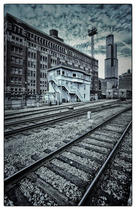 Chicago Print featuring the photograph Chicago Rail Station by Donald Schwartz