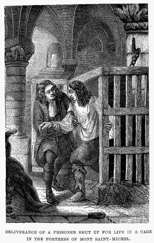 Cage Print featuring the photograph Prison: Cage, 17th Century by Granger