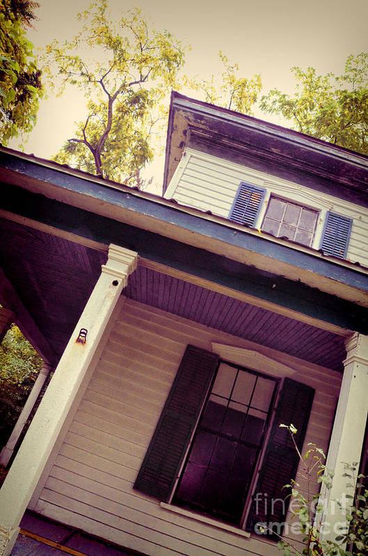 House Print featuring the photograph Creepy Old House by Jill Battaglia