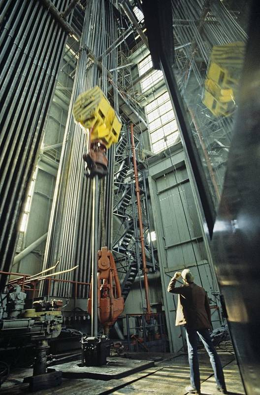 20th Century Print featuring the photograph Kola Borehole, Russia by Science Photo Library