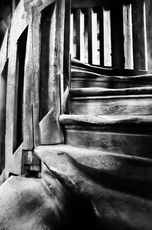 Stairs Print featuring the photograph Spiral Staircase by John Bartosik
