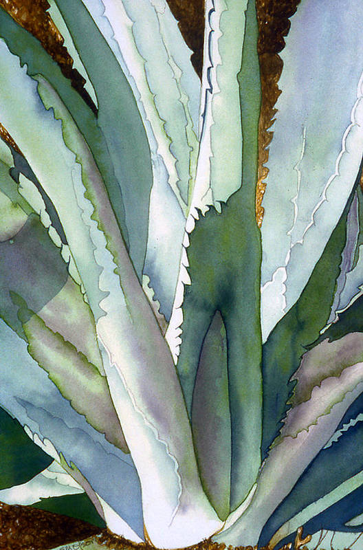 Botanical Print featuring the painting Agave 1 by Eunice Olson