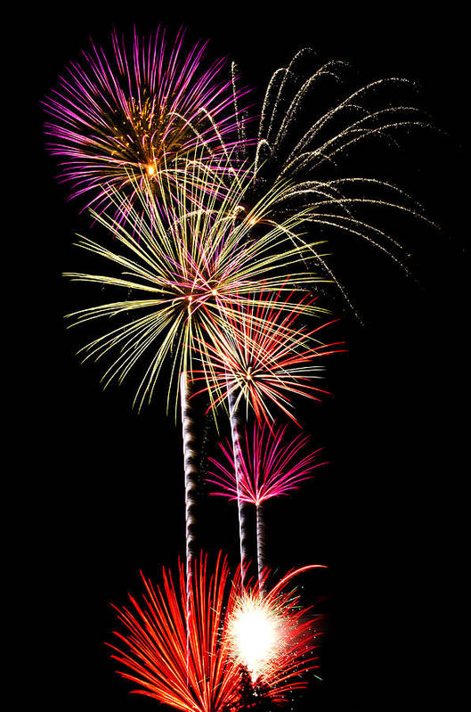 July 4th Print featuring the photograph Fireworks by Saija Lehtonen