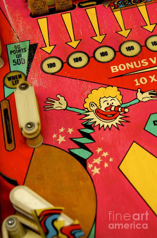 Indoors Print featuring the photograph Pinball Machine by Bernard Jaubert