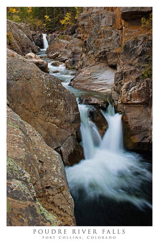 Colorado Print featuring the photograph Poudre River Falls Fort Collins by Posters of Colorado