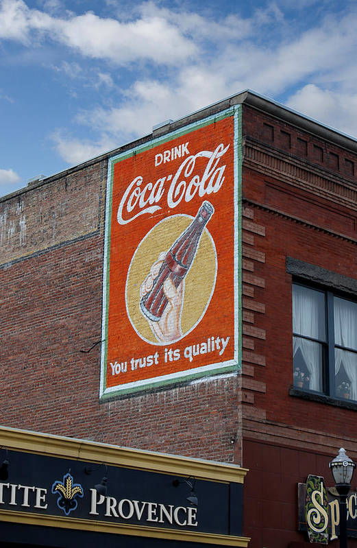 Decorative Art Print featuring the photograph Bend Oregon Coke Sign by Gary Grayson
