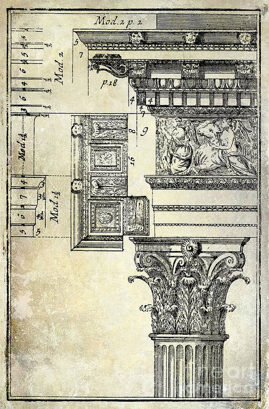 Roman architecture drawings for sale for Architectural drawings for sale