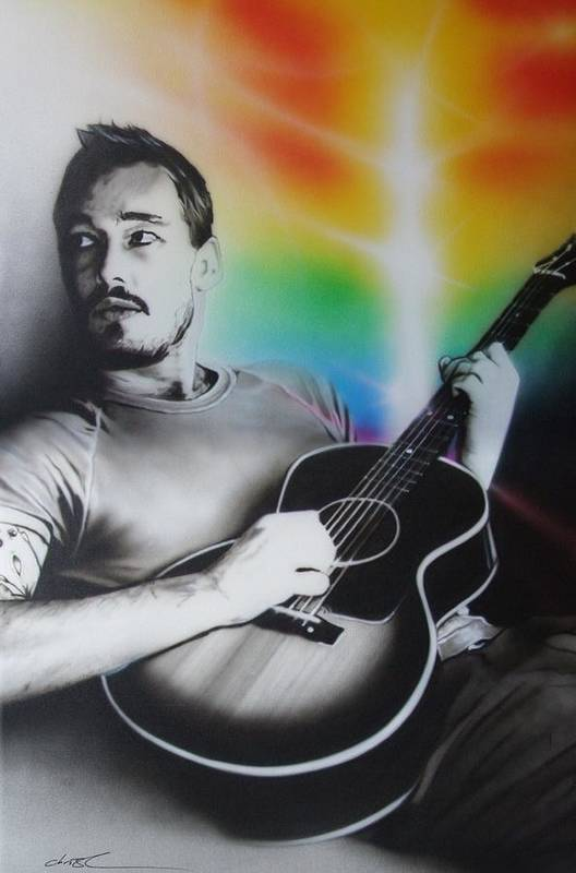 Daniel Johns Print featuring the painting 'daniel Johns' by Christian Chapman Art