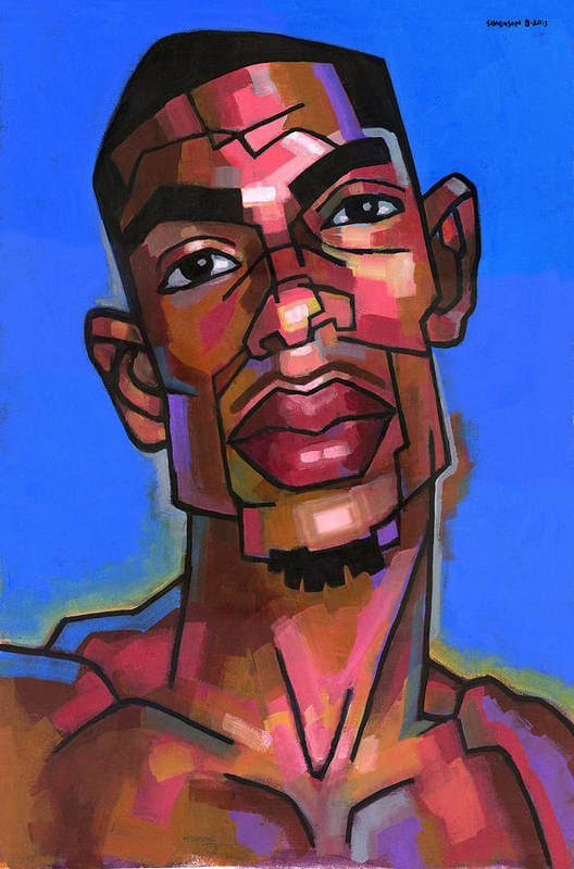 Portrait Print featuring the painting DJ by Douglas Simonson