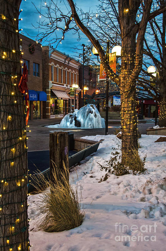 Old Town Print featuring the photograph Ice Fountain by Baywest Imaging