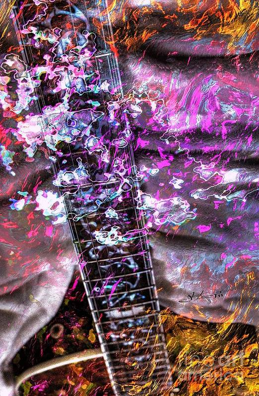 Guiacoustic Print featuring the photograph Jammin Out Digital Guitar Art By Steven Langston by Steven Lebron Langston
