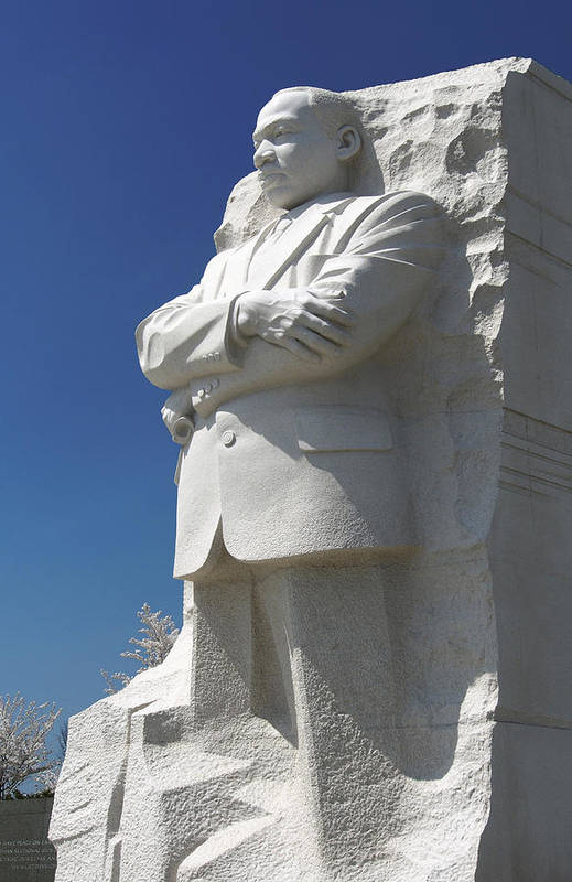 Landmarks Print featuring the photograph Martin Luther King Jr. Memorial by Mike McGlothlen