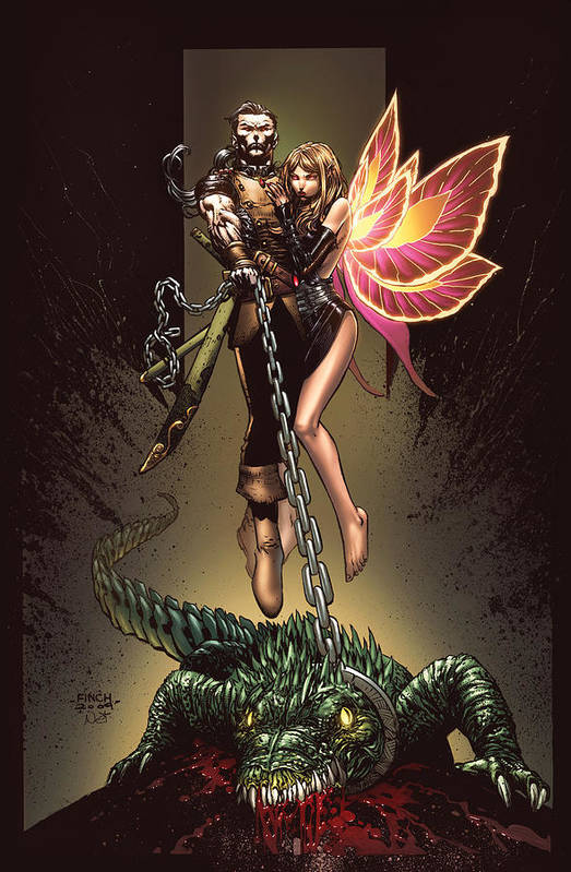 Grimm Fairy Tales Print featuring the drawing Neverland 01a by Zenescope Entertainment