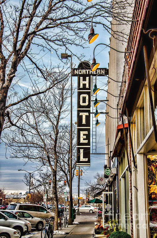 Old Town Print featuring the photograph Northern Hotel by Baywest Imaging
