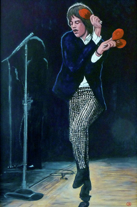 Mick Print featuring the painting Not Fade Away by Tom Roderick