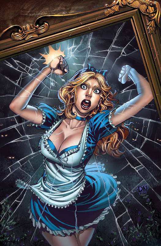 Grimm Fairy Tales Print featuring the drawing Tales From Wonderland Alice by Zenescope Entertainment