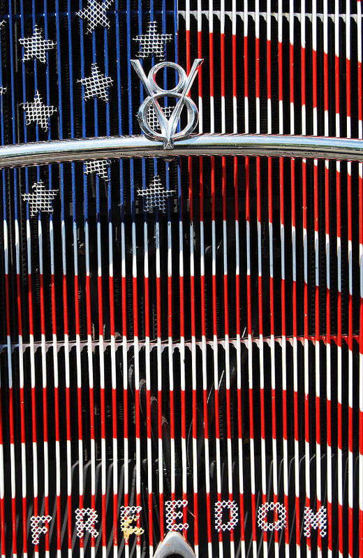 V8 Print featuring the photograph V8 Freedom by Jani Freimann