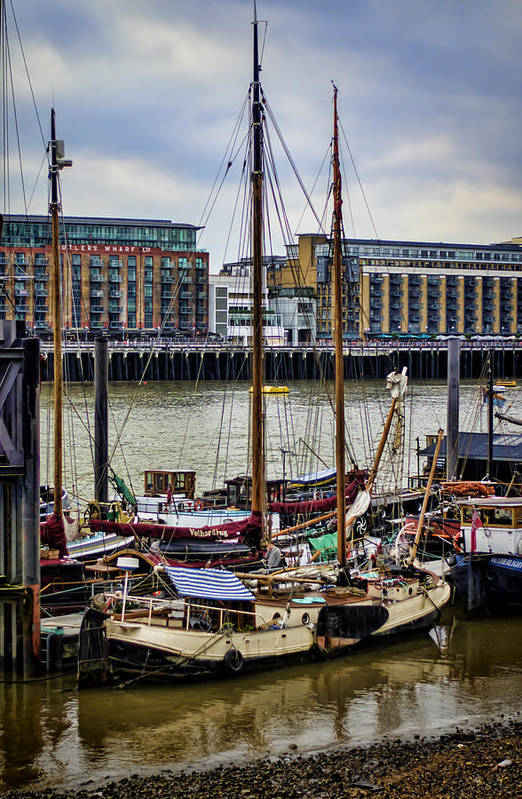 Boat Print featuring the photograph Wharf Ships by Heather Applegate