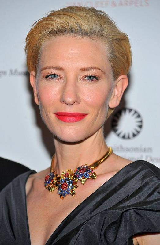Cate Blanchett Print featuring the photograph Cate Blanchett Wearing A Van Cleef & by Everett