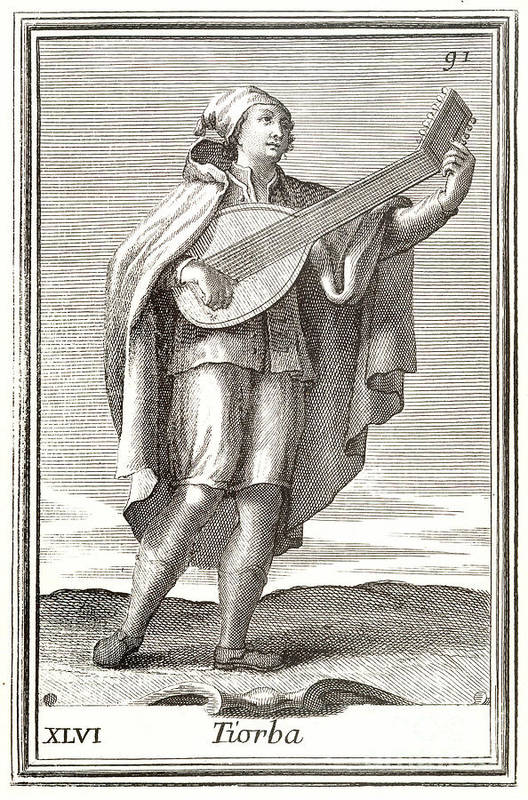1723 Print featuring the photograph Lute, 1723 by Granger