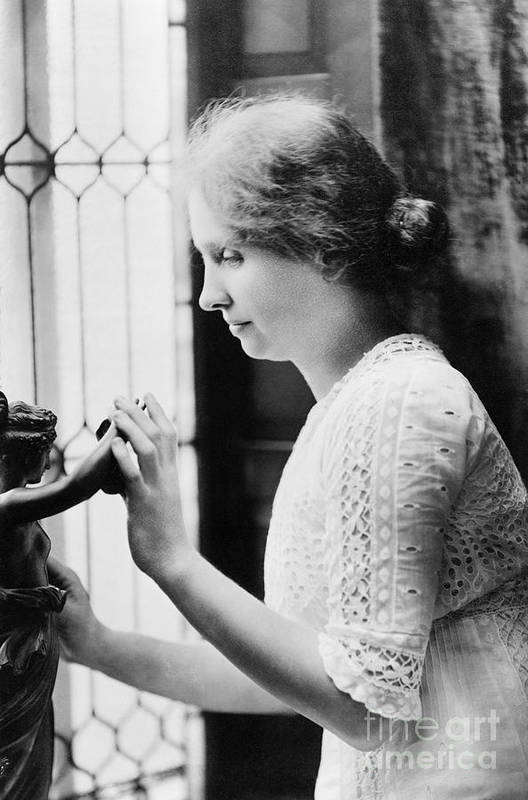 1912 Print featuring the photograph Helen Adams Keller by Granger