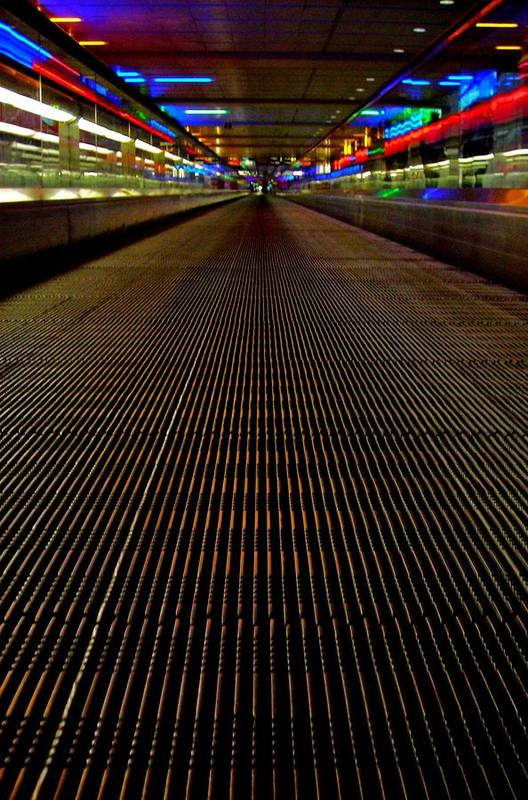 Angle Print featuring the photograph Escalator View ... by Juergen Weiss