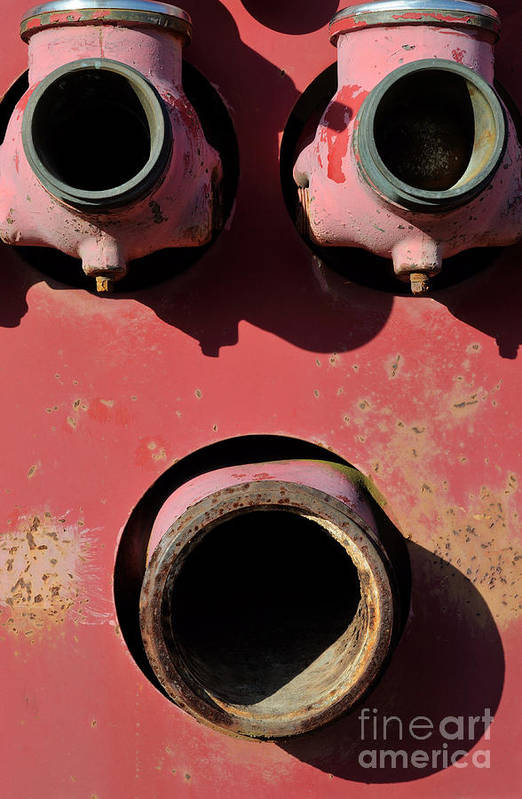Rust Print featuring the photograph Hollow Face by Luke Moore