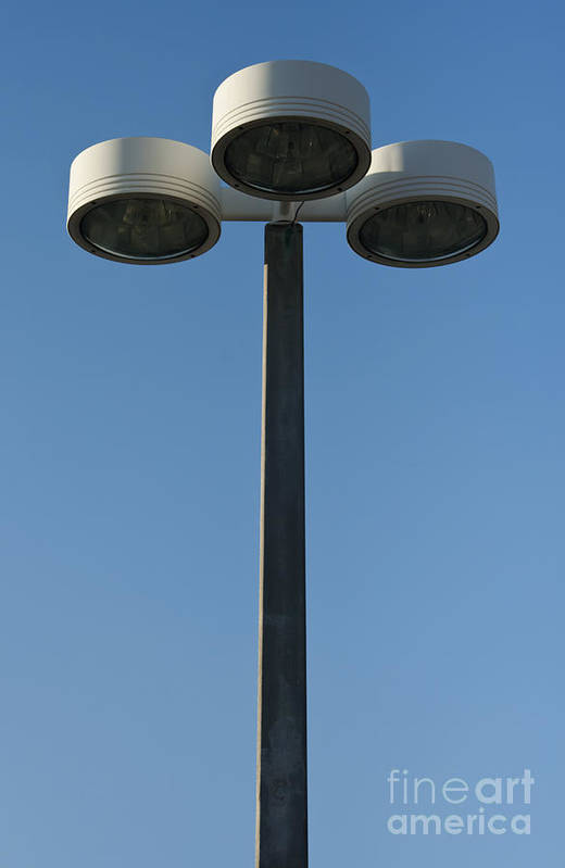 Lamp Print featuring the photograph Outdoor Lamp Post by Blink Images