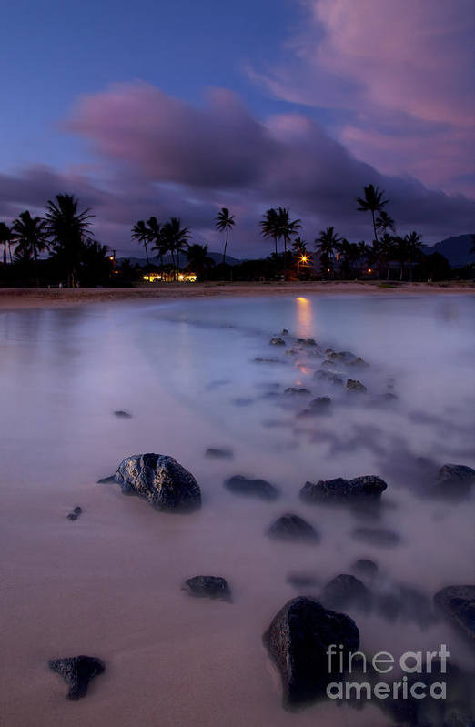 Poipu Print featuring the photograph Poipu Evening Storm by Mike Dawson