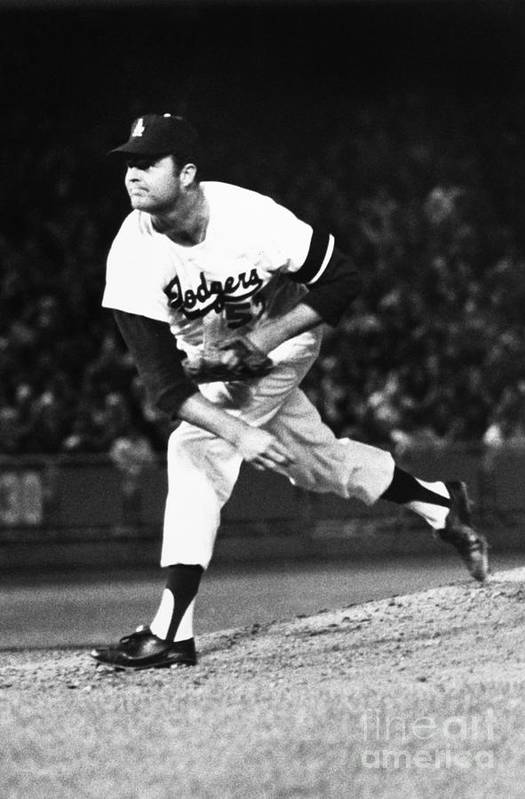 1968 Print featuring the photograph Don Drysdale (1936-1993) by Granger
