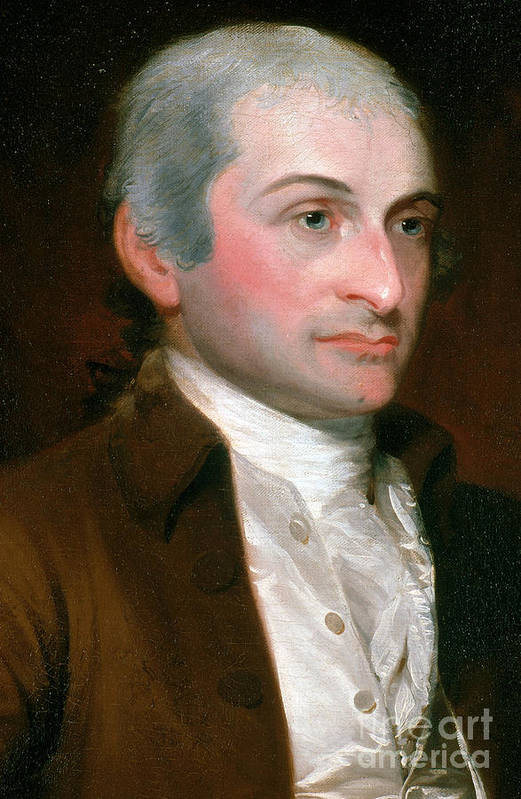 History Print featuring the photograph John Jay, American Founding Father by Photo Researchers