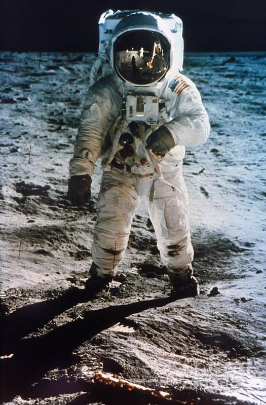 1969 Print featuring the photograph Apollo 11: Buzz Aldrin by Granger