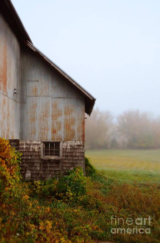 Barn Print featuring the photograph Autumn Barn by Jill Battaglia