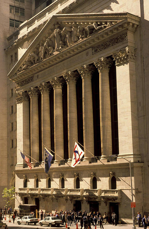 Wall St. Print featuring the photograph Ny Stock Exchange by Gerard Fritz