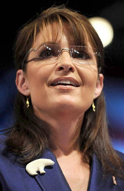Sarah Palin Campaign Stop In Pennsylvania Print featuring the photograph Republican Vice Presidential Candidate by Everett