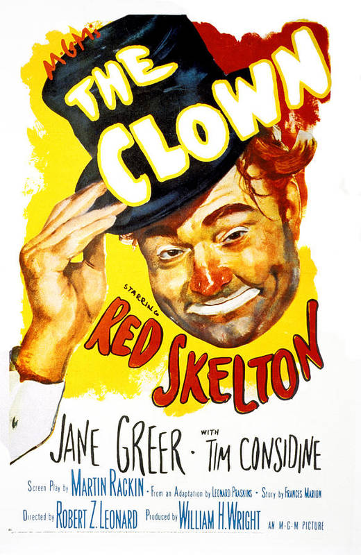 1950s Portraits Print featuring the photograph The Clown, Red Skelton, 1953 by Everett