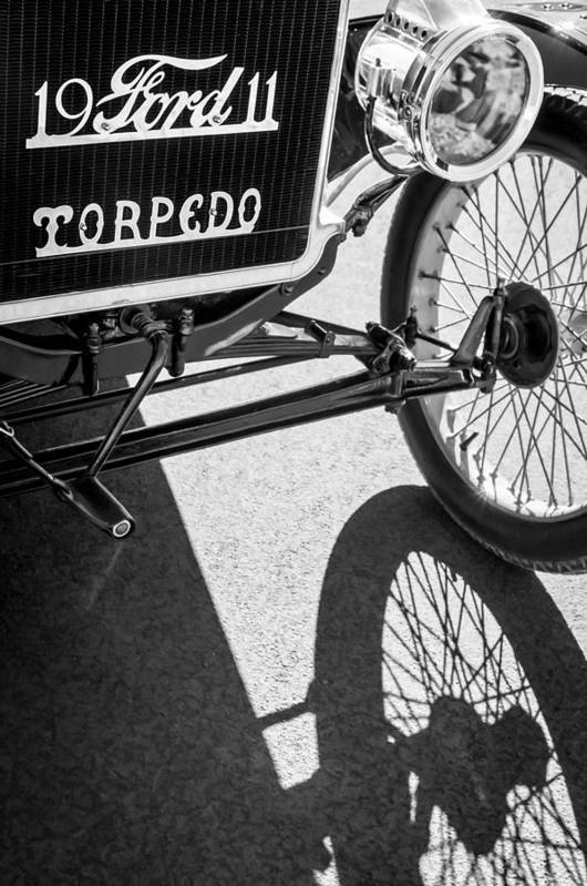 1911 Ford Model T Torpedo Grille Emblem Print featuring the photograph 1911 Ford Model T Torpedo Grille Emblem by Jill Reger