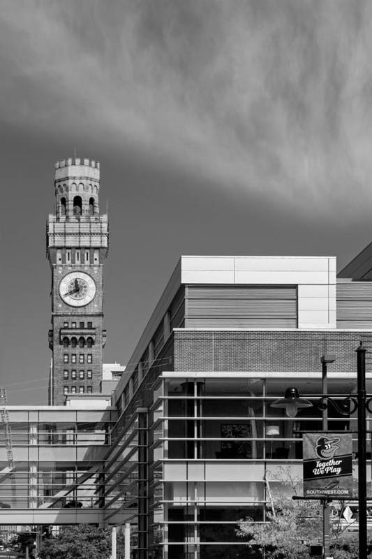 Baltimore Print featuring the photograph Emerson Bromo-seltzer Tower by Susan Candelario