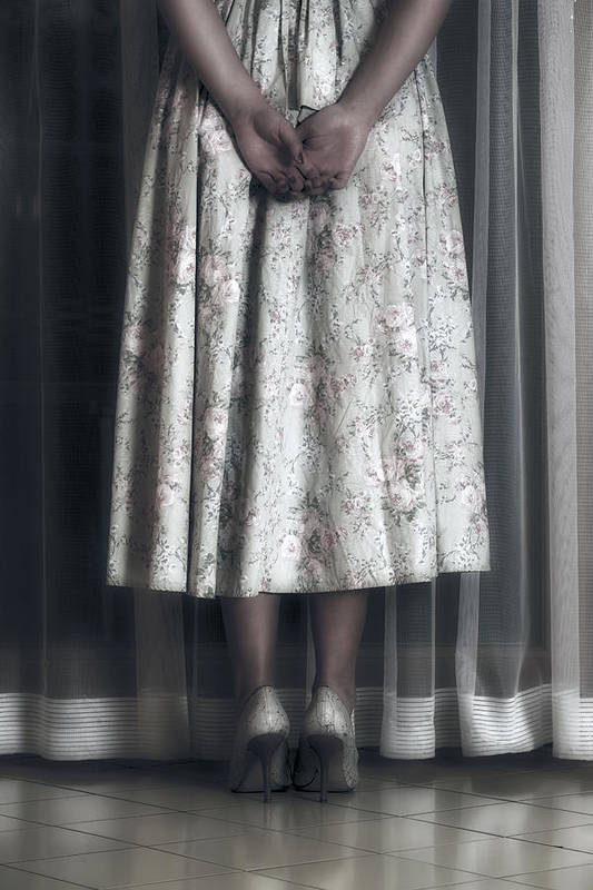 Girl Print featuring the photograph Waiting by Joana Kruse