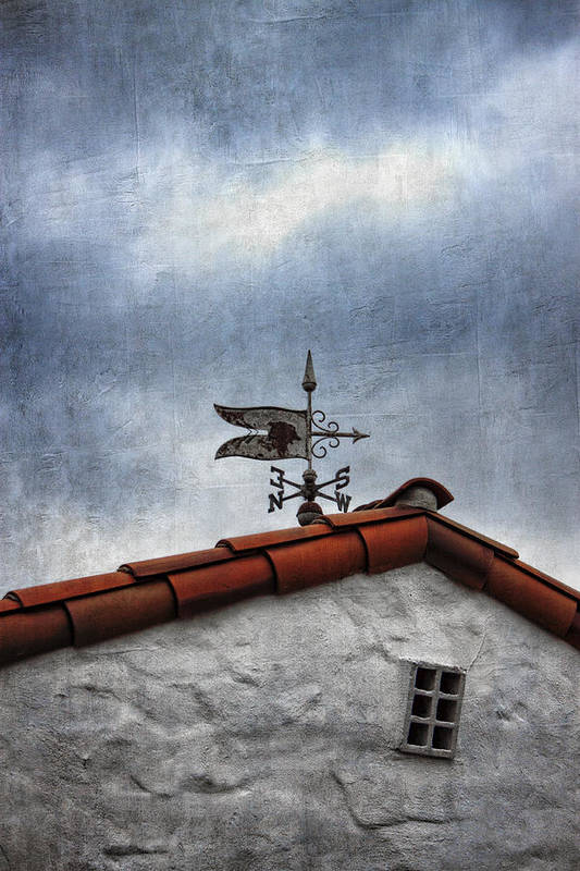 Weathervane Print featuring the photograph Weathered Weathervane by Carol Leigh