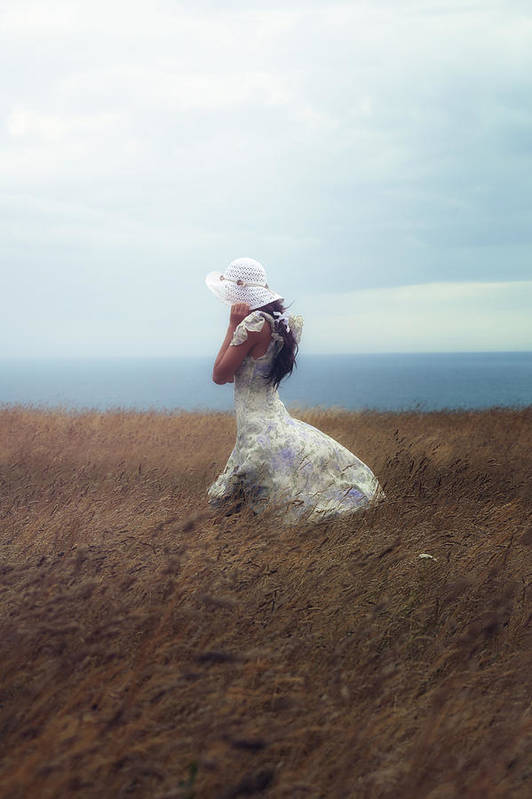 Girl Print featuring the photograph Windy Day by Joana Kruse