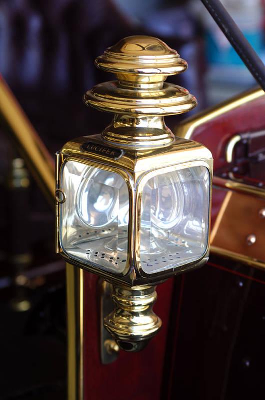 1907 Panhard Et Levassor Lamp Print featuring the photograph 1907 Panhard Et Levassor Lamp by Jill Reger
